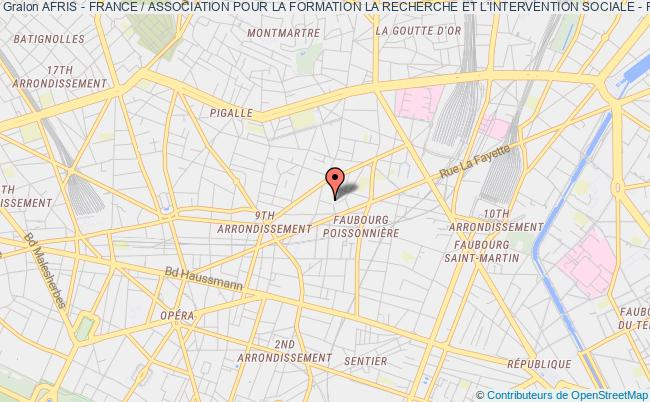 plan association Afris - France / Association Pour La Formation La Recherche Et L'intervention Sociale - France Paris