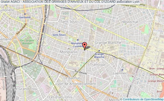 plan association Agaci - Association Des Granges D'arvieux Et Du Col D'izoard