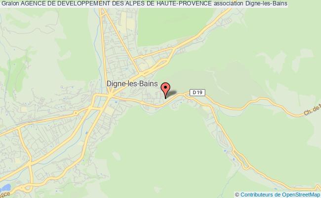 plan association Agence De Developpement Des Alpes De Haute-provence