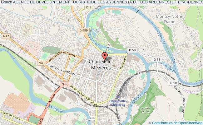 """plan association Agence De Developpement Touristique Des Ardennes (a.d.t Des Ardennes) Dite """"ardennes Tourisme"""""""