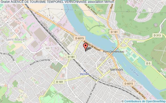 plan association Agence De Tourisme Temporel Vernonnaise