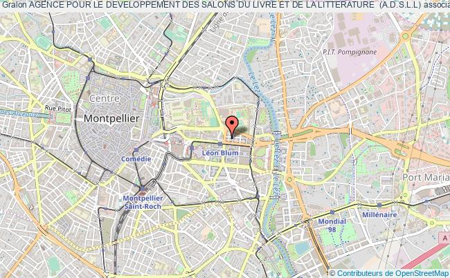 plan association Agence Pour Le Developpement Des Salons Du Livre Et De La Litterature  (a.d.s.l.l)