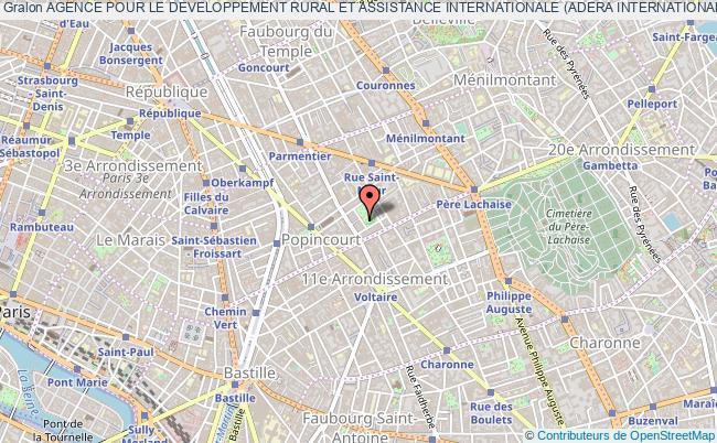 plan association Agence Pour Le Developpement Rural Et Assistance Internationale (adera Internationale) Paris