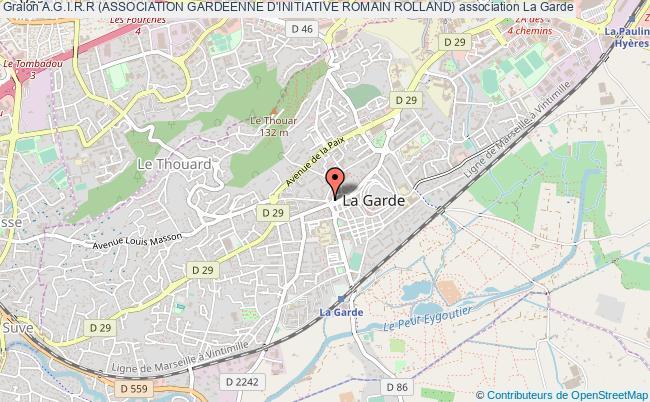 plan association A.g.i.r.r (association Gardeenne D'initiative Romain Rolland)