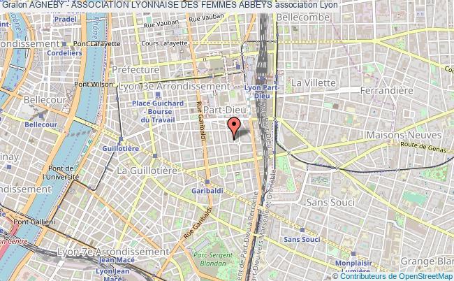 plan association Agneby - Association Lyonnaise Des Femmes Abbeys