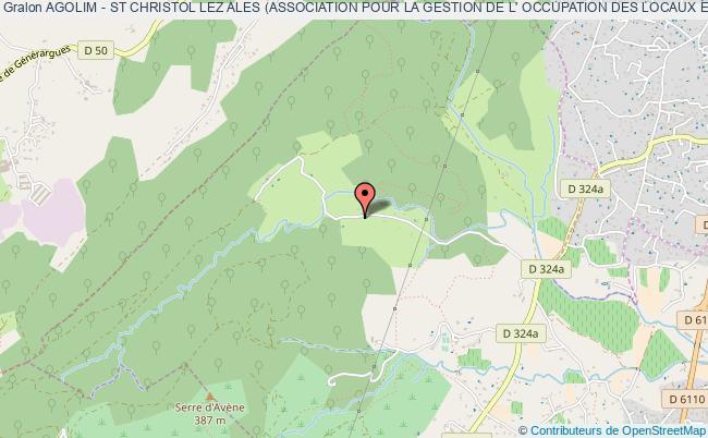 plan association Agolim - St Christol Lez Ales (association Pour La Gestion De L' Occupation Des Locaux Et Infrastructures Municipales De St Christol Lez Ales).