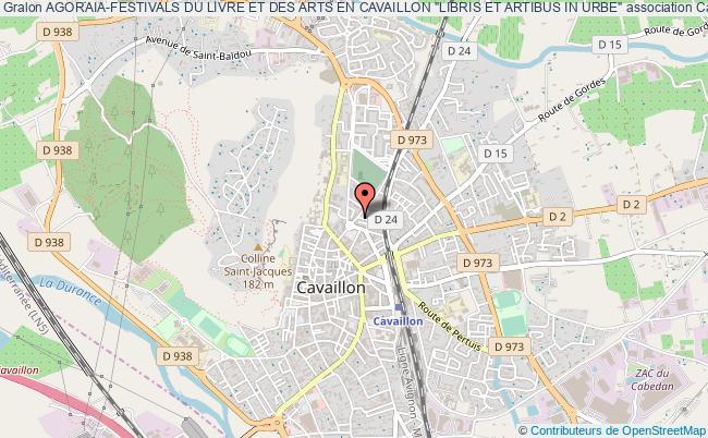 """plan association Agoraia-festivals Du Livre Et Des Arts En Cavaillon """"libris Et Artibus In Urbe"""" Cavaillon"""