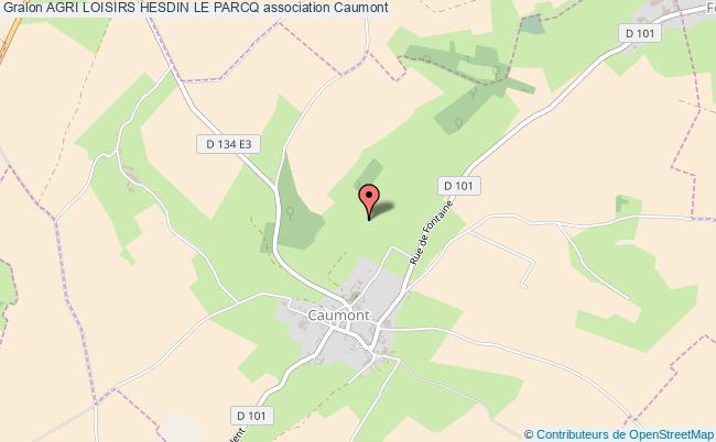 plan association Agri Loisirs Hesdin Le Parcq Caumont