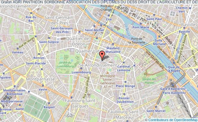 plan association Agri Pantheon Sorbonne Association Des Diplomes Du Dess Droit De L'agriculture Et Des Filieres Agro Alimentaires De L'universite De Paris I Paris
