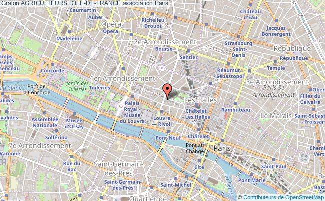 plan association Agriculteurs D'ile-de-france Paris