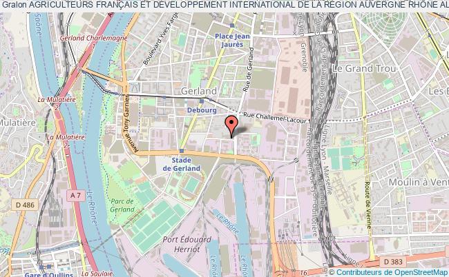 plan association Agriculteurs FranÇais Et DÉveloppement International De La RÉgion Auvergne RhÔne Alpes (afdi Auvergne RhÔne Alpes)