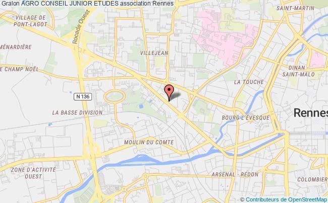 plan association Agrocampus Junior Etudes Rennes