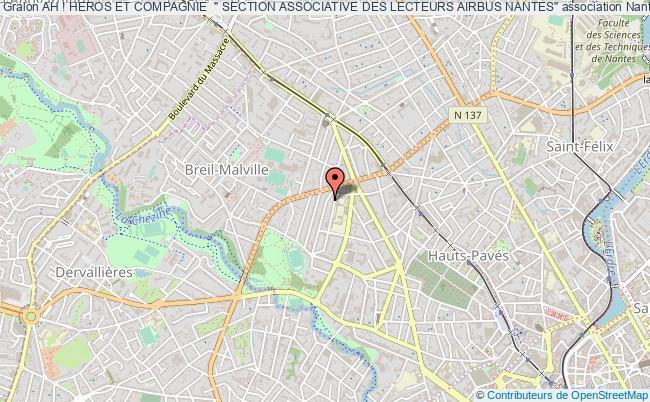 """plan association Ah ! Heros Et Compagnie  """" Section Associative Des Lecteurs Airbus Nantes"""" Nantes"""