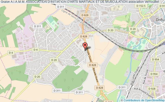 plan association A.i.a.m.m. Association D'initiation D'arts Martiaux Et De Musculation