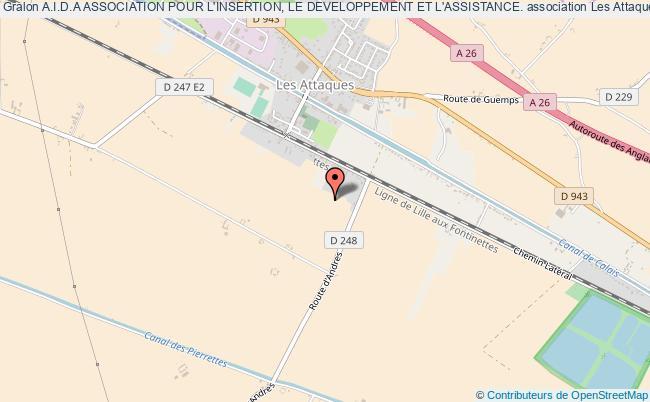 plan association A.i.d.a Association Pour L'insertion, Le Developpement Et L'assistance.