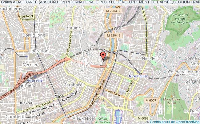 plan association Aida France (association Internationale Pour Le Developpement De L'apnee,section France) Nice