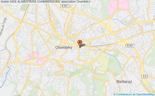 plan association Aide Alimentaire Chamberienne