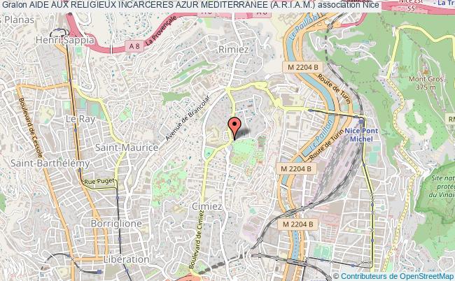 plan association Aide Aux Religieux Incarceres Azur Mediterranee (a.r.i.a.m.) Nice