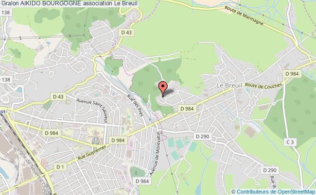 plan association Aikido Bourgogne Le    Breuil