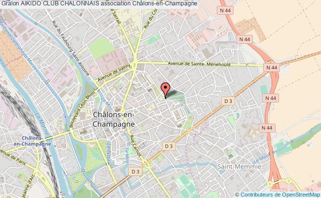 plan association Aikido Club Chalonnais