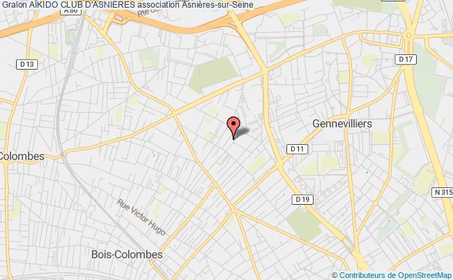 plan association AÏkido Club D'asniÈres Asnières-sur-Seine
