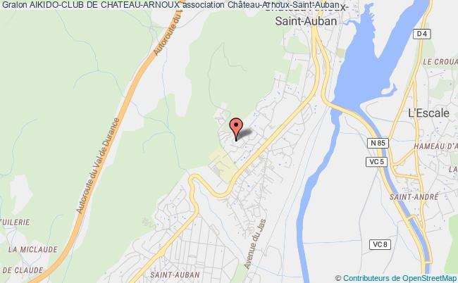 plan association Aikido-club De Chateau-arnoux