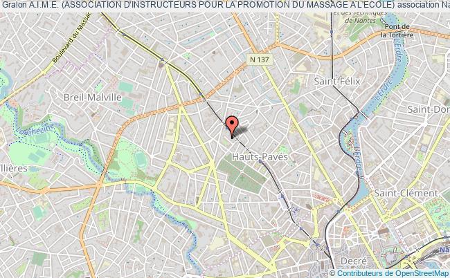 plan association A.i.m.e. (association D'instructeurs Pour La Promotion Du Massage A L'ecole)