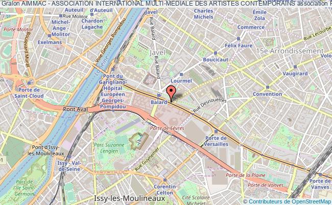 plan association Aimmac - Association International Multi-mediale Des Artistes Contemporains