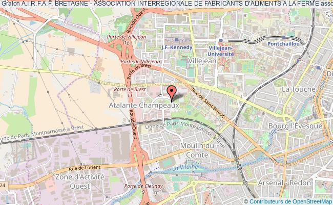 plan association A.i.r.f.a.f. Bretagne - Association Interregionale De Fabricants D'aliments A La Ferme Rennes