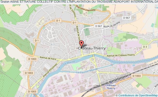 plan association Aisne Et Nature Collectif Contre L'implantation Du Troisieme Aeroport International Dans L'aisne