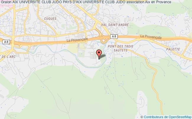 plan association Aix Universite Club Judo Pays D'aix Universite Club Judo