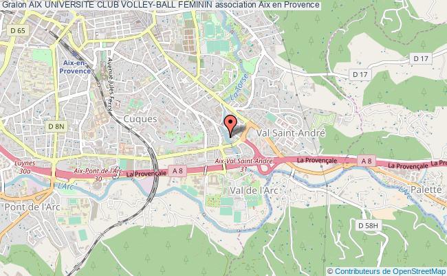 plan association Aix Universite Club Volley-ball Feminin