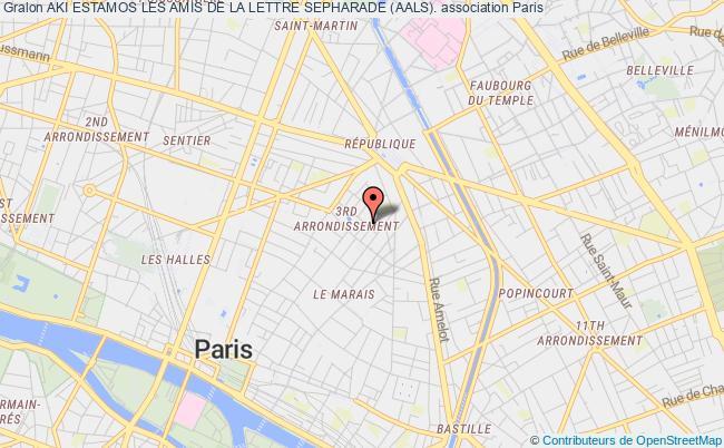 plan association Aki Estamos Les Amis De La Lettre Sepharade (aals).