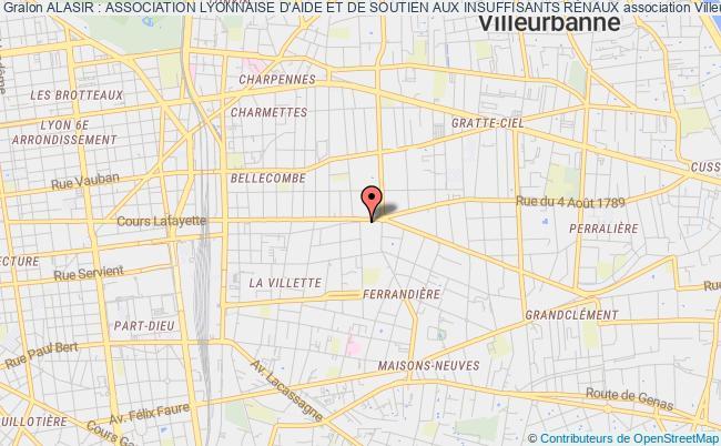 plan association Alasir : Association Lyonnaise D'aide Et De Soutien Aux Insuffisants RÉnaux