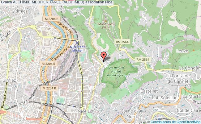 plan association Alchimie Mediterranee (alchimed) Nice