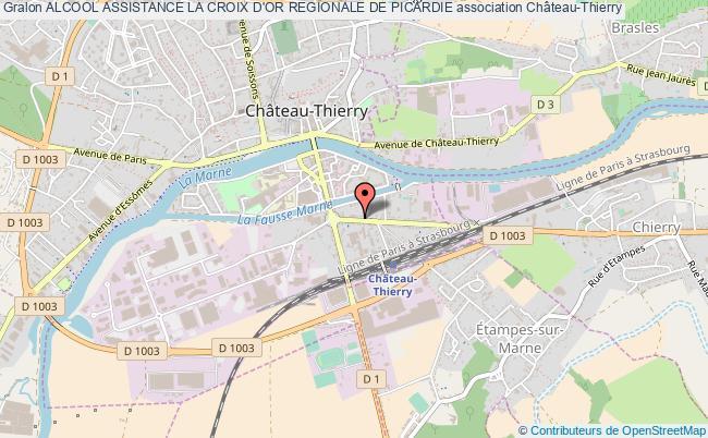 plan association Alcool Assistance La Croix D'or Regionale De Picardie