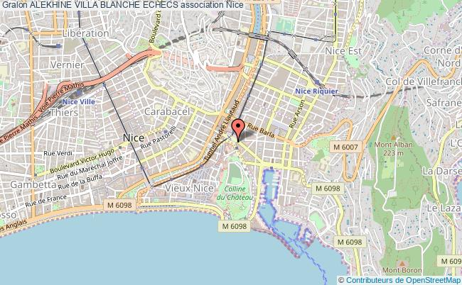 plan association Alekhine Villa Blanche Echecs Nice