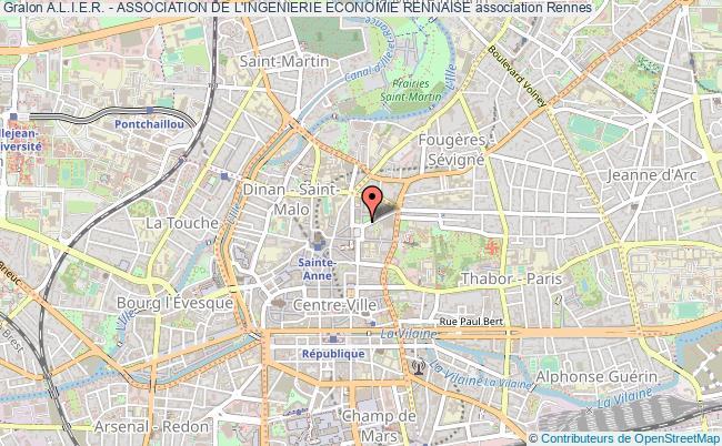plan association A.l.i.e.r. - Association De L'ingenierie Economie Rennaise