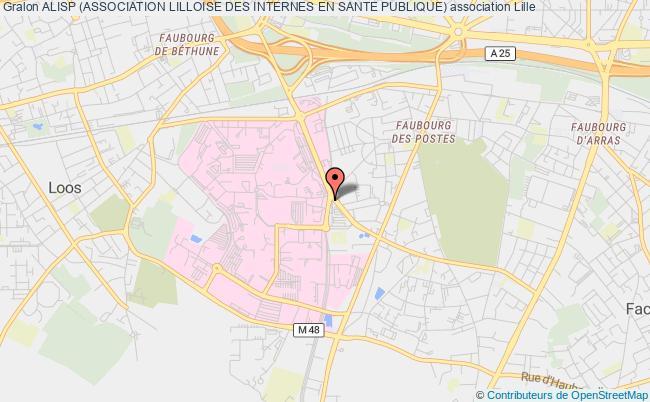 plan association Alisp (association Lilloise Des Internes En Sante Publique) Lille Cedex