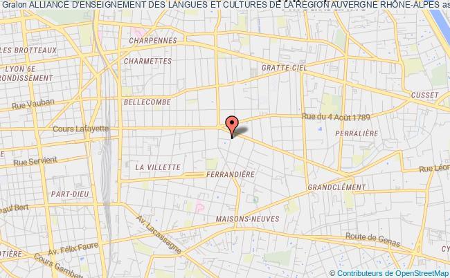 plan association Alliance D'enseignement Des Langues Et Cultures De La RÉgion Auvergne RhÔne-alpes
