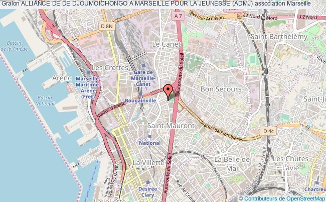 plan association Alliance De De Djoumoichongo A Marseille Pour La Jeunesse (admj) Marseille