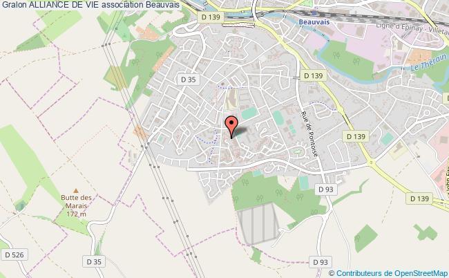 plan association Alliance De Vie Beauvais