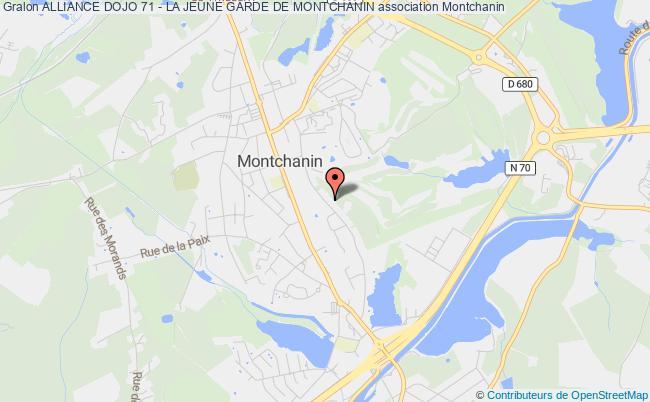 plan association Alliance Dojo 71 - La Jeune Garde De Montchanin