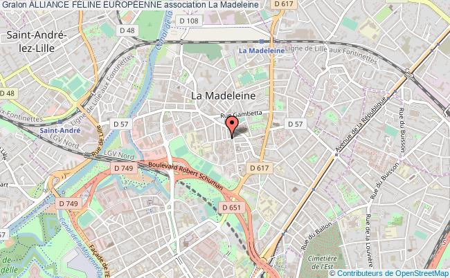 plan association Alliance FÉline EuropÉenne La Madeleine
