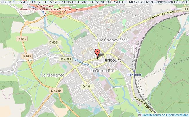 plan association Alliance Locale Des Citoyens De L'aire Urbaine Du Pays De  Montbeliard
