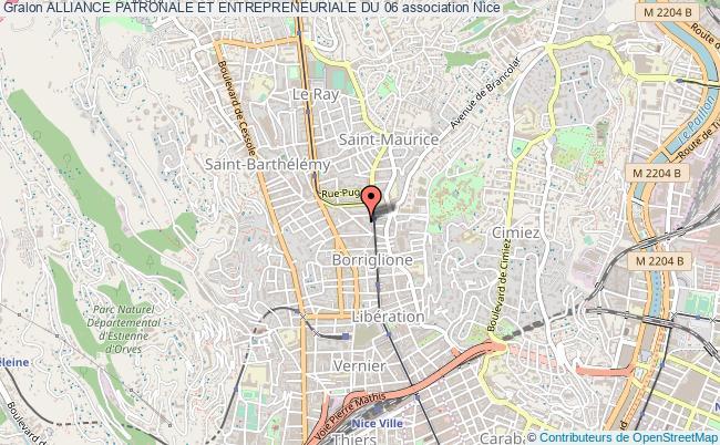 plan association Alliance Patronale Et Entrepreneuriale Du 06 Nice