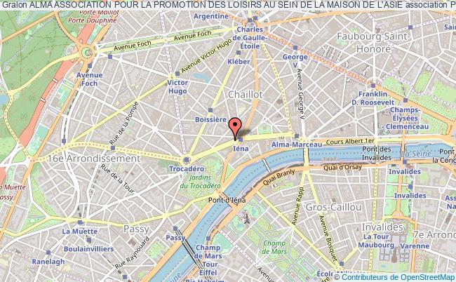 plan association Alma Association Pour La Promotion Des Loisirs Au Sein De La Maison De L'asie