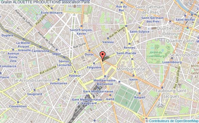 plan association Alouette Productions Paris 15e