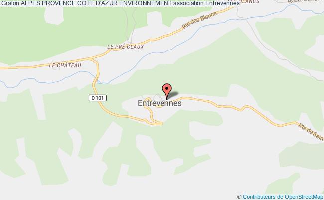 plan association Alpes Provence CÔte D'azur Environnement Entrevennes