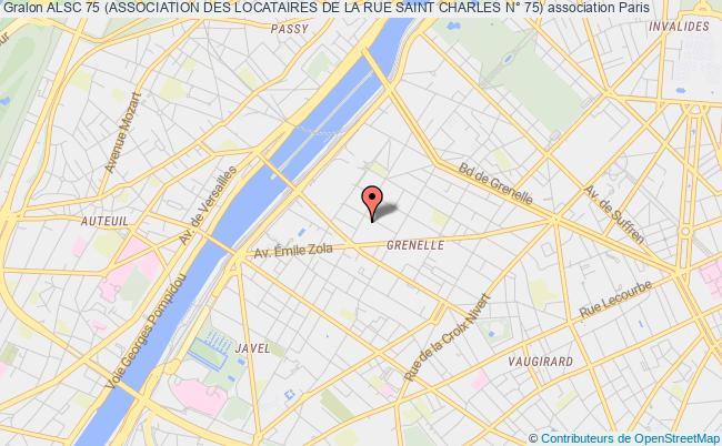 plan association Alsc 75 (association Des Locataires De La Rue Saint Charles N° 75)
